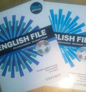 Учебник, рабочая тетрадь, dvd disks - English File