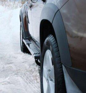 Пороги металлические Renault Duster 2010-2014