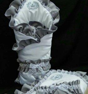 Конверт Одеяло на выписку и костюм