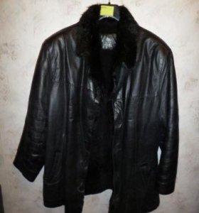 Меховая кожаная куртка