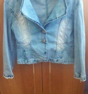 Джинсовая куртка(укороченая)