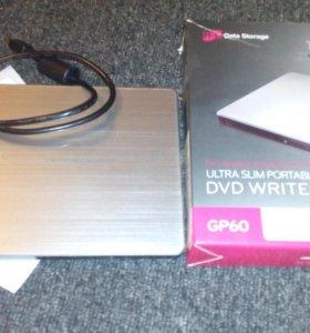 Внешний DVD-RW LG GP60NS60 Silver