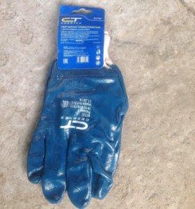 Перчатки покрытые резиной, новые