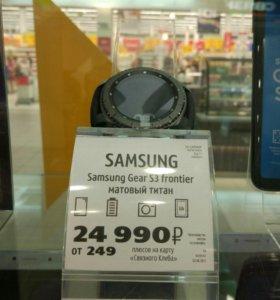 Samsung GEAR s3 frontier матовый титан