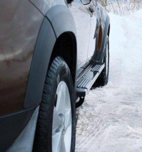 Пороги металлические вар1 Renault Duster 2015-