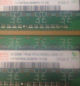 2 планки Ddr2 512 mb