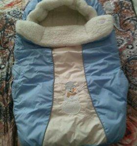 Конверт для малыша на овчине