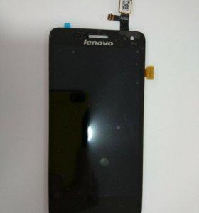 Дисплей Lenovo S660+тачскрин черный.