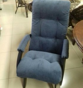Кресло - качалка гляйдер синяя