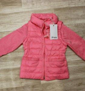 Новая куртка-жилетка фирмы Gaialuna (3-4 года)