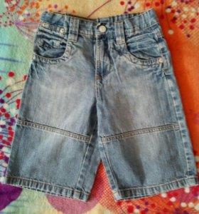 Шорты джинсовые рост 128