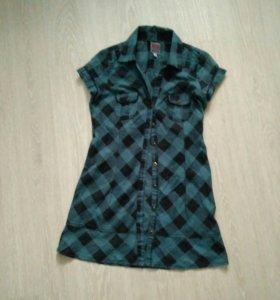 Рубашка удлиненая