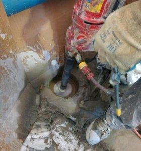 Алмазное бурение сверление отверстий в бетоне