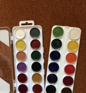 Новая меловая акварель 24 цвета