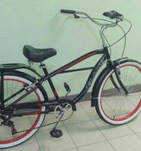 Новый 7-скоростной велосипед-круизер.