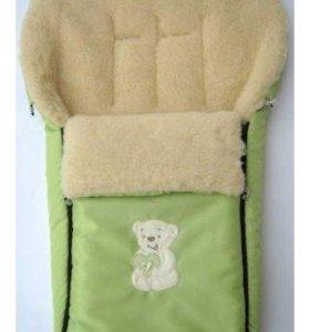 Меховой конверт в коляску (натуральная овчина)