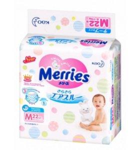 Подгузники Merries M 6-11кг 22шт