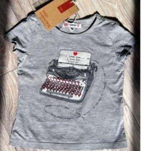 НОВЫЕ Фирменные футболка, водолазка