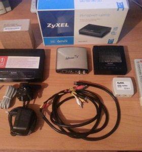 ADSL-модем ZyXEL+TV приставка Amino