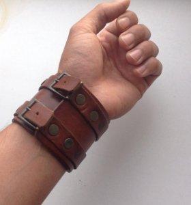 Кожаный браслет. Мужской