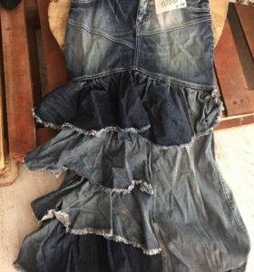 Джинсовая юбка, М