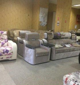 Новый Диван и 2 кресла