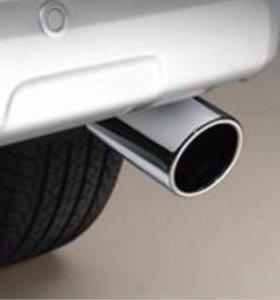 Хромированная насадка на глушитель Toyota Prado
