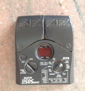 Электрогитара, процессор zoom 505, комбик fender