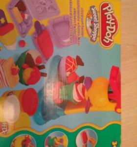Игрушки play-doh  *фабрика мороженого*.