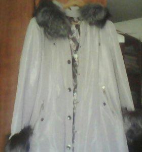 Пальто с чернобуркой зима- весна