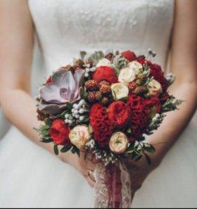 Флористика на свадьбу, букет невесты