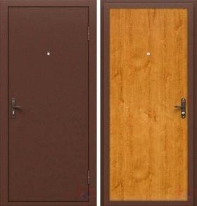 Дверь входная металл Стройгост 5-1 золотистый дуб