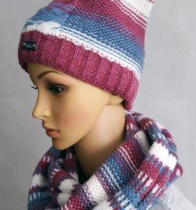 Разные комплекты: шапка + шарф-снуд