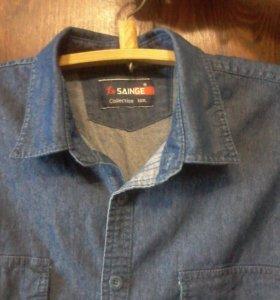Мужская джинсовая   рубашка новая!!!