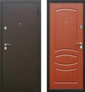 Дверь входная Стройгост 7-2 итал. орех, белый клен