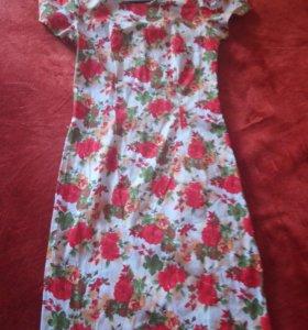 Платье-футляр котон46