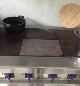 Плита электрическая (проф.) Abat, стол холодильный