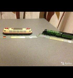 Модели паровозов Германии, Англии и США. Масштаб 1