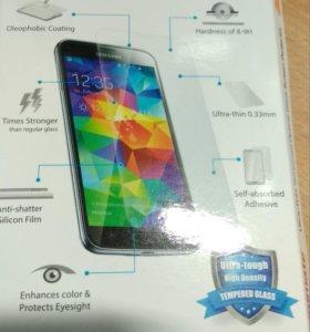 Стекло защитное для Samsung Galaxy S5