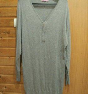 Трикотажное платье - туника  р. 46-48