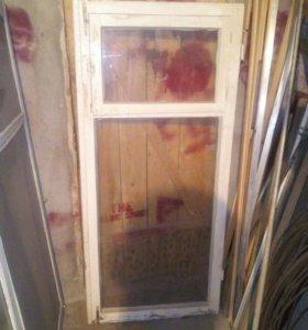 Окна и двери б/у деревянные