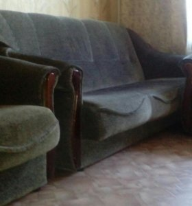 Диван книжка и 2 кресла