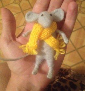 Мышка ручной работы из шерсти
