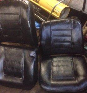 Кожаные сидения на классику