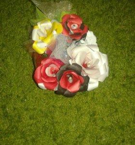 Букет цветов из конфет