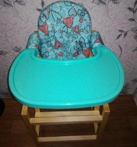 Детский стульчик для кормления новый