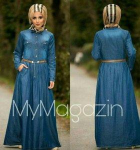 Джинса платье