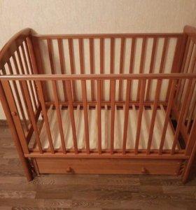 Кроватка детская Gandylyan + матрас