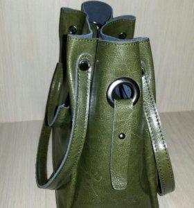 Сумка в сумке, Новая, кожа