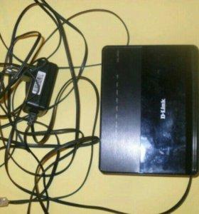 Wi-Fi роутер D-Link DSL-2650U,адаптер питания